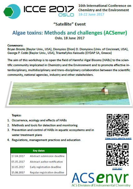 Algae Toxins in ICCE 2017 picture